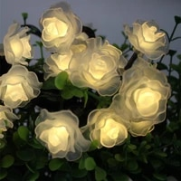 solar led light outdoor 203050100 led rose string lights for holiday christmas party waterproof fairy lights garden garland