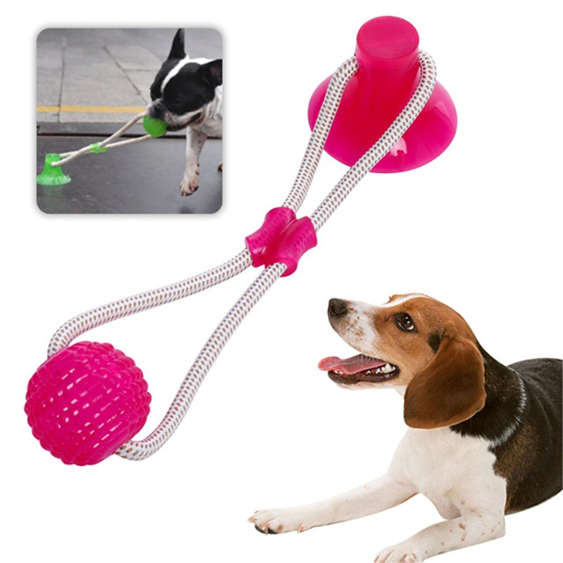 Питомец игрушки для собак жевательная игрушка для собак зубы чистые с присоской безопасный эластичный Мягкий щенок движущийся шар Мега буксир игрушка для собак