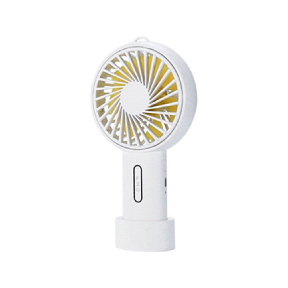 F20 Mini ventilador portátil de mano recargable por USB, ventilador de escritorio portátil para el hogar y el estudiante, ventilador de oficina al aire libre