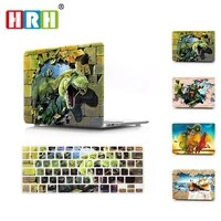 hrh 2in1 marble wood animal keyboard cover laptop body shell hard case for mac pro13 12 15 air 11touch bar a2159 a2289 a2251