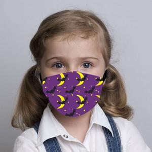1PC mascarillas Children's Face Mask Fashion Halloween Pumpkin Print Windproof Foggy Protective Mask mondkapjes wasbaar#30