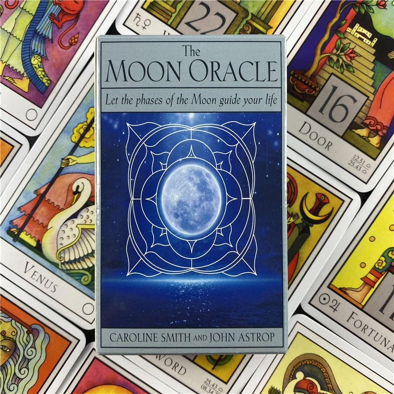 The Moon Oracle Deck Cards Games Let The Phases Of The Moon Guide Your Life English Version Divination Board Game Tarot Cards