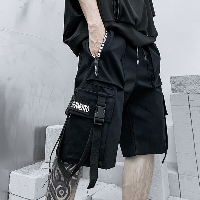 Шорты мужские летние в стиле Харадзюку, модные уличные штаны в стиле панк, спортивные короткие шорты, мужские шорты