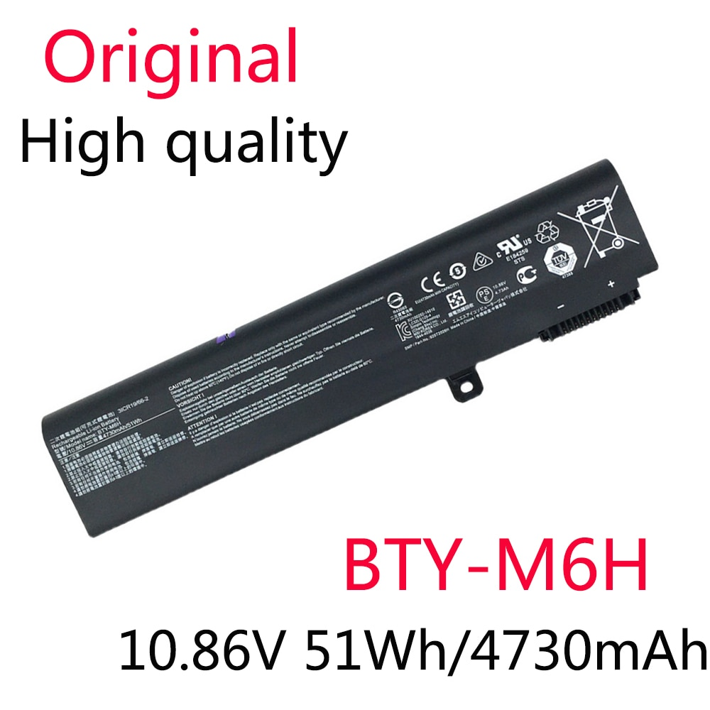 BTY-M6H Original Nova Bateria Para GE62 GE72 GP62 GP72 GL62 GL72 GP62VR GP72VR PE60 PE70 MS-16J2 MS-16J3 MS-1792 MS-1795 51Wh