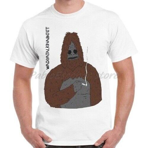 Sassy el Sasquatch humo Big Lez Show Retro Camiseta Hombre Blanco camiseta verano camiseta de talla grande 4XL 5XL