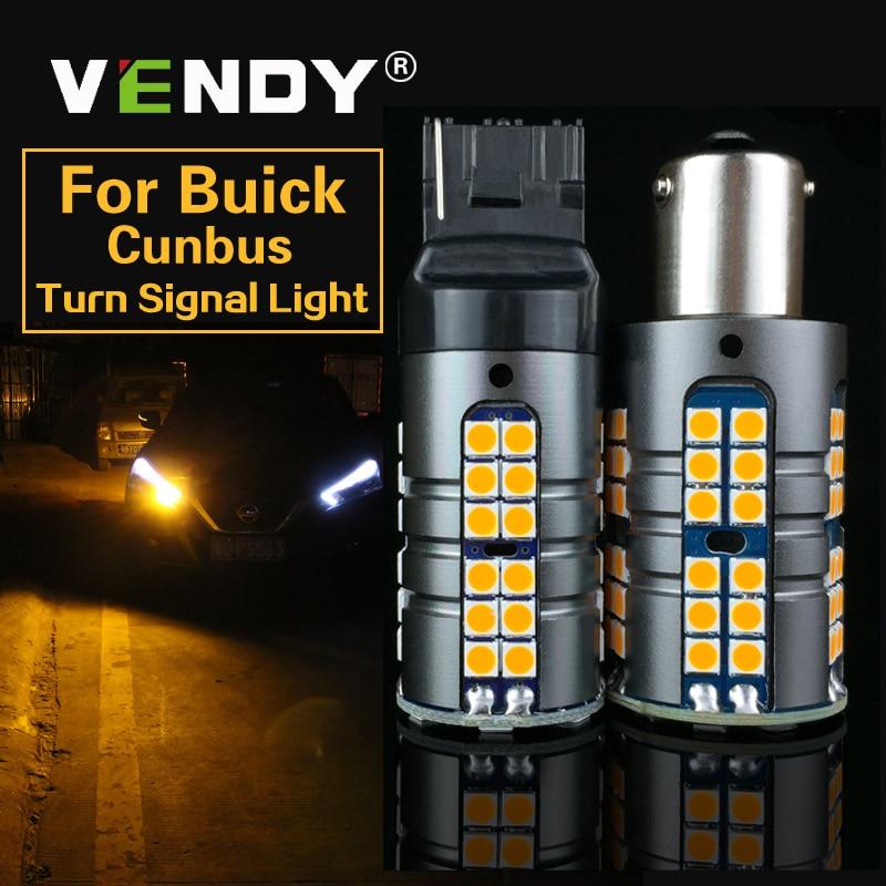 2x carro canbus led turn signal luz py21w bau15s p21w ba15s wy21w lâmpada para buick allure cascada enclave lacrosse encore