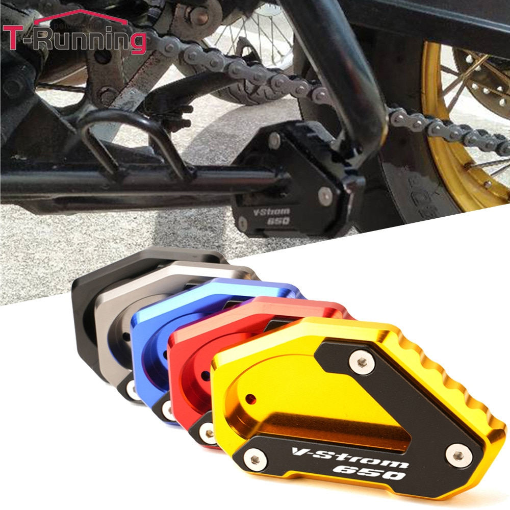 LOGO For SUZUKI V-STROM 650 VSTROM 650/XT DL650 2004-2020 Motorcycle CNC Kickstand Foot Side Stand E