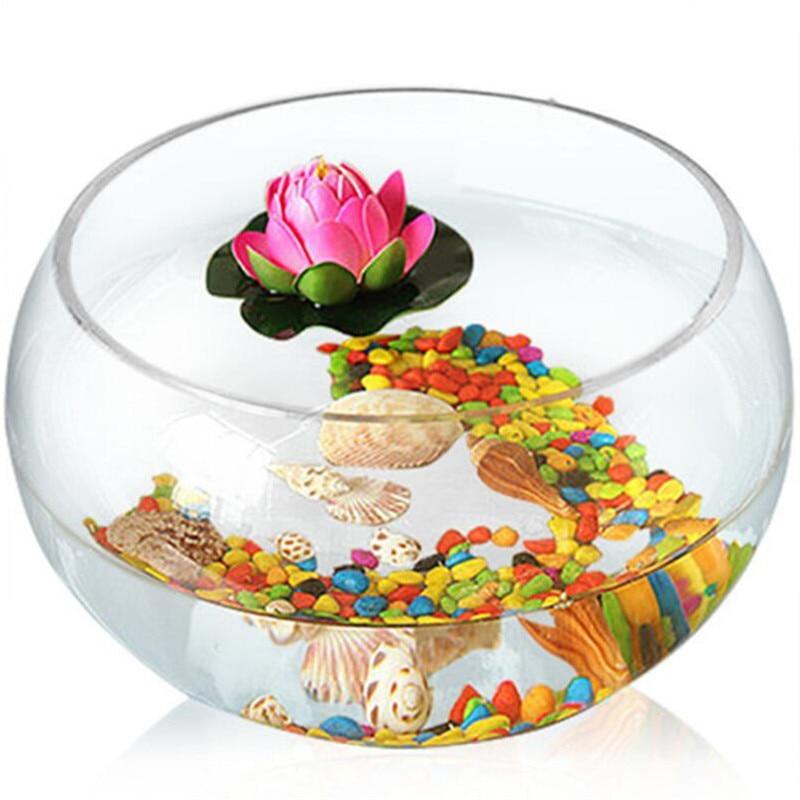 Tanque redondo HONGYI de pez dorado, tanque ecológico creativo de cristal, tanque grande de tortuga, tanque hidropónico, jarrón