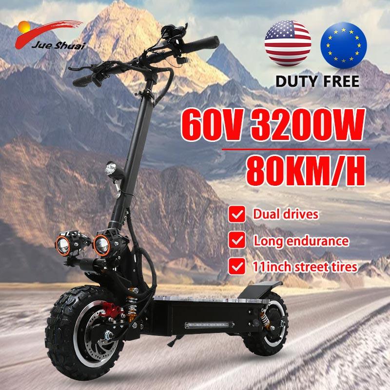 Patinete eléctrico de doble Motor para adultos, Scooter Eléctrico de 80 KM/H,...
