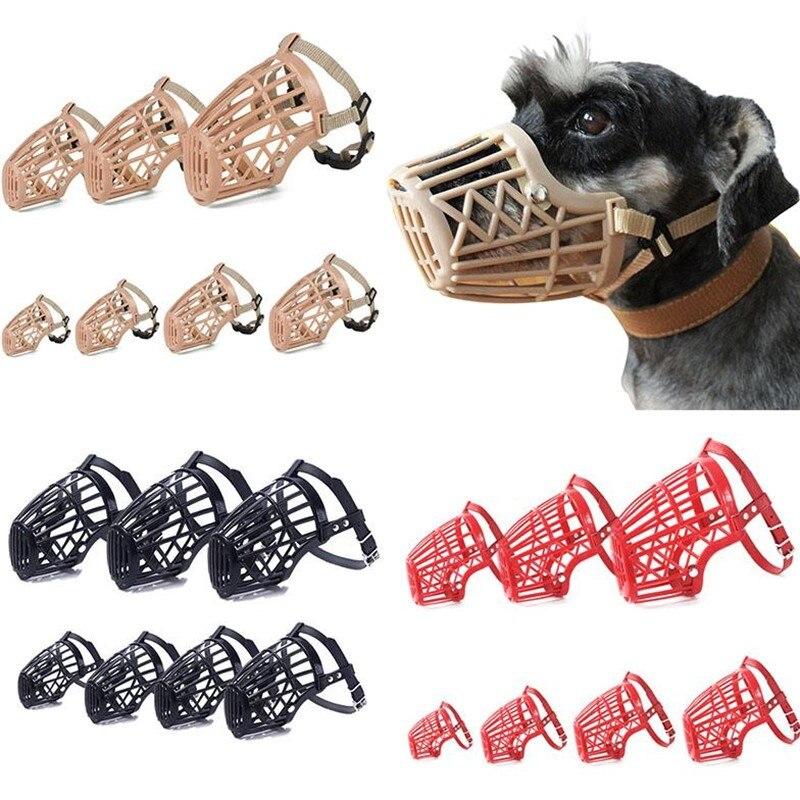 2019mascota perro Muzzles 5 tipos estilo protección ambiental cubierta de goma para perro cachorro y perro mediano suministros para mascotas XS-XXXL