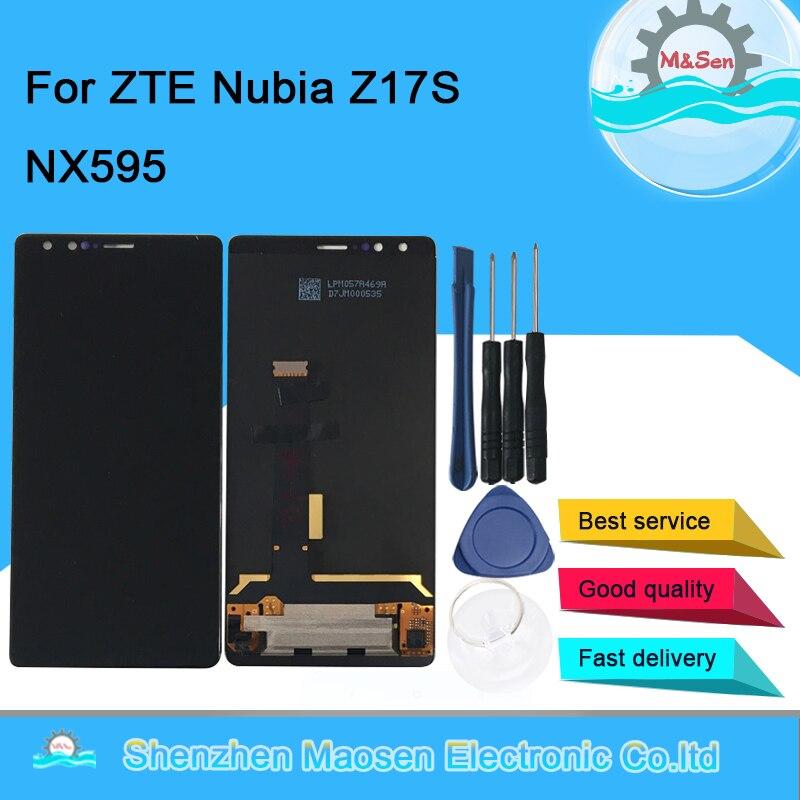 "M & sen original 5.73 ""para zte nubia z17s nx595j display lcd tela + painel de toque digitador assembléia para zte nubia z17 s"