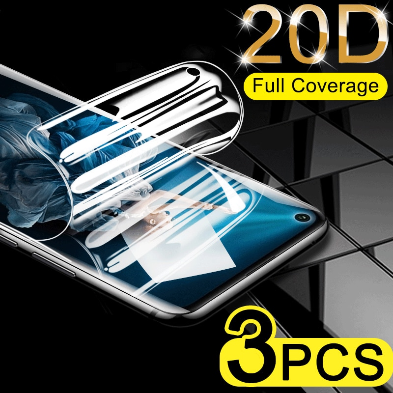 3Pcs Full Cover Screen Protector For Huawei Honor 20 Pro 8 9 10 Lite Hydrogel Film For Honor V20 V9 V10 10i Protective not glass