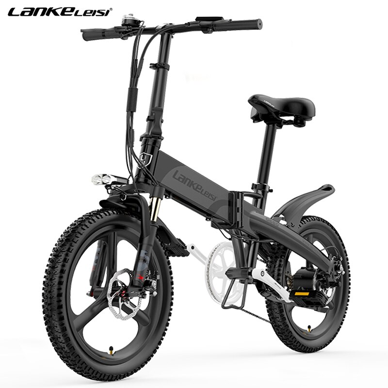 LANKELEISI G660 400 واط سبائك المغنيسيوم عجلة متكاملة 48V12.8AH/14.5AH بطارية ليثيوم 20 بوصة دراجة كهربائية قابلة للطي