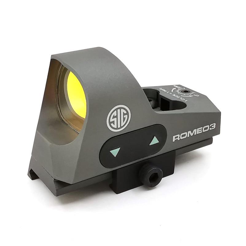 Mini red dot laser ROMEO3 sight hunting scope rifles cope Reflex Optics Tactical QD Mount for with 20mm Rail