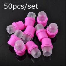 Hot Selling 50pcs/set Plastic Nail Soak Off Cap Clip UV Gel Nail Polish Remover Wrap For Finger Toes Manicure Tool 20#36