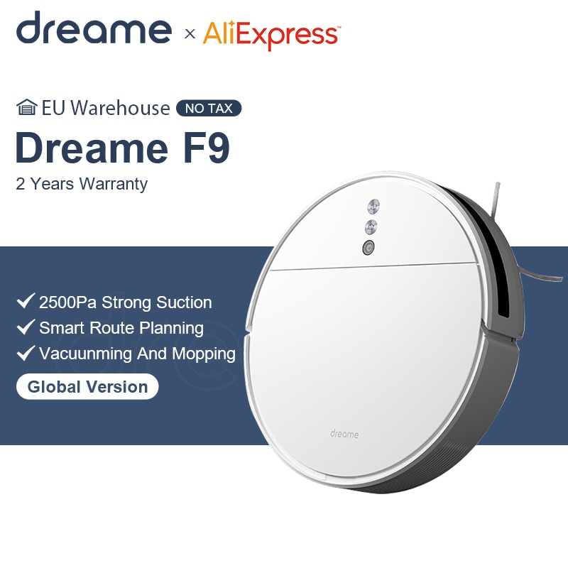 Dreame F9 Robot Vacuum Cleaner 2500Pa Suction Planned Cleaning Automatically Charge Mop Dust Collector Smart Aspirator for Home