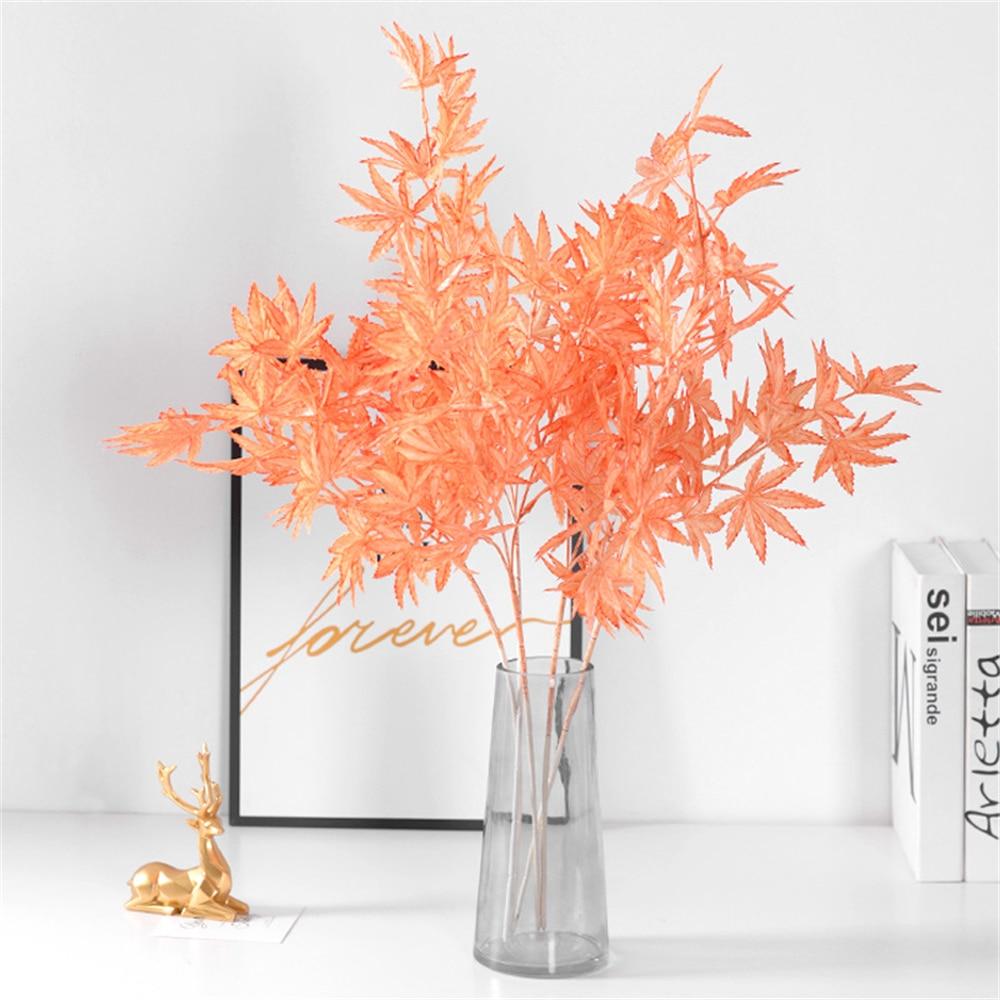 Кленовые искусственные растения для домашнего декора, пластиковые кленовые искусственные растения для гостиной, искусственные растения д...