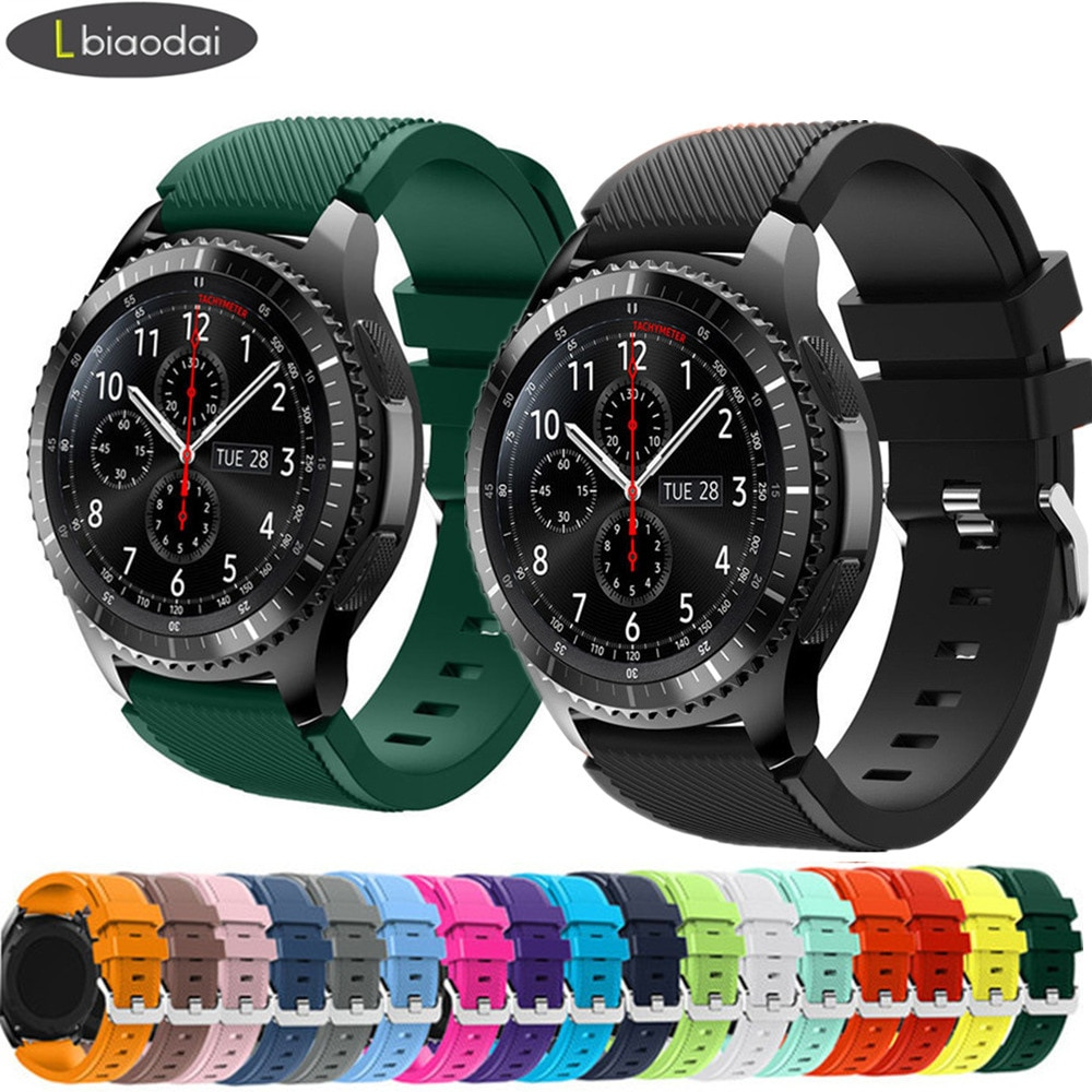20mm/22mm watch strap for Samsung Galaxy watch 3 45mm/42mm/Active-2 Gear S3 Frontier silicon bracelet Huawei GT/2/2e strap 46 mm