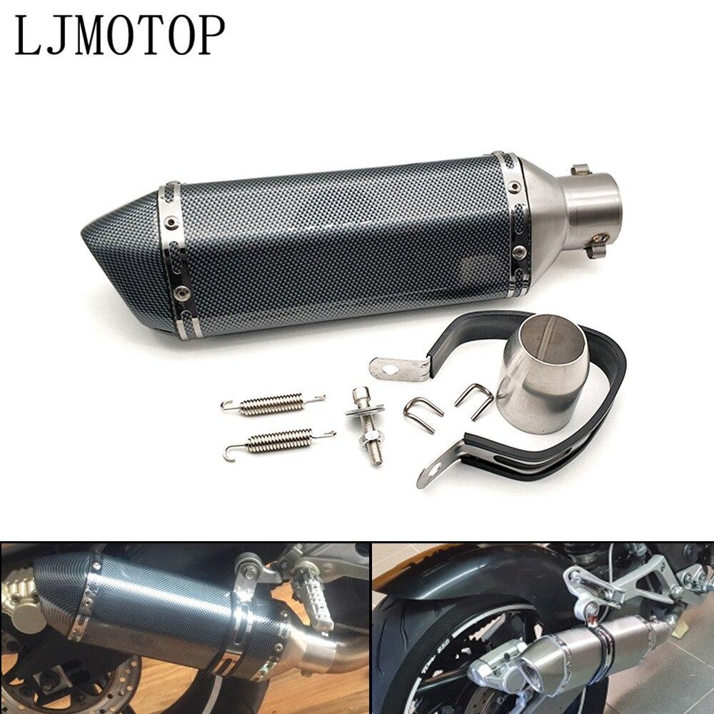Silenciador de escape modificado Universal para motocicleta, con DB Killer para Aprilia CAPANORD 1200, CAPONORD / ETV1000 DORSODURO 1200 750