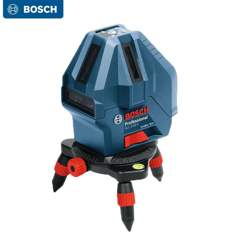 Bosch GLL3-15X GLL5-50X مستوى الليزر 3 خط/5 خط الأشعة تحت الحمراء عالية الدقة الذاتي التسوية جهاز لتحسين المنزل أو في الهواء الطلق