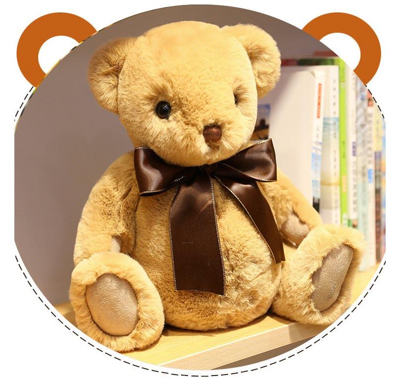 Хлопковый Игрушечный мишка, мишка тедди, лидер продаж, игрушка, плюшевый мишка с бантом, счастливый Мишка Тедди