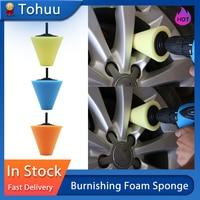 Burnishing Foam Sponge Polishing Pad Car Polisher Tyres Wheel Wheel Hub Tool Polishing Machine Cone-shape Wheel Hubs Disk