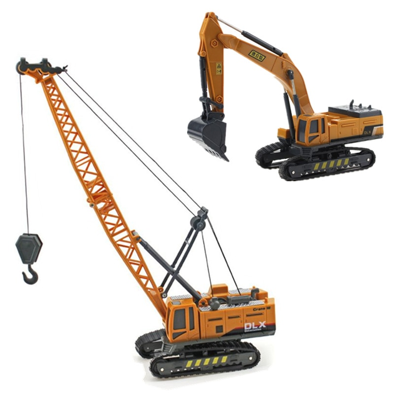 Crane Toy Construction Vehicle 1:50 Diecast Engineering Toys Truck Tractor High Simulation Boys Machine Model Toys For Children kid model toys 1 50 scale engineering vehicle truck car model 140m3 motor grader high line series 85544 diecast model toys