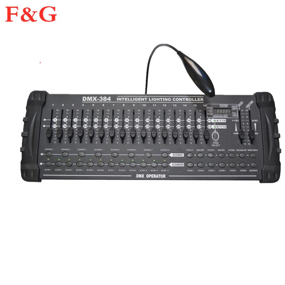384 canales DMX512 DMX controlador de consola DJ Disco equipo DMX consolas...
