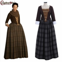 Cosplaydiy Outlander Jenny Fraser Murray Dress Outlander Women Medieval Victorian Halloween Cosplay Costume Custom Made