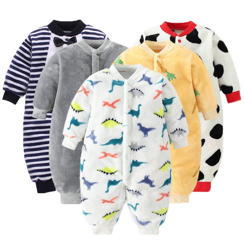 Newborn Baby Winter Clothes Infant Spring Jacket for Girls Jumpsuit for Boys Soft Flannel Bebe Rompe
