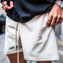 Summer Shorts Men Fashion Boardshorts Mesh Breathable Male Casual Shorts Comfortable Plus Size Fitne