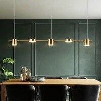 Modern LED bar chandelier luxury living room long chandelier Nordic gold / black restaurant bedroom home decoration lamps