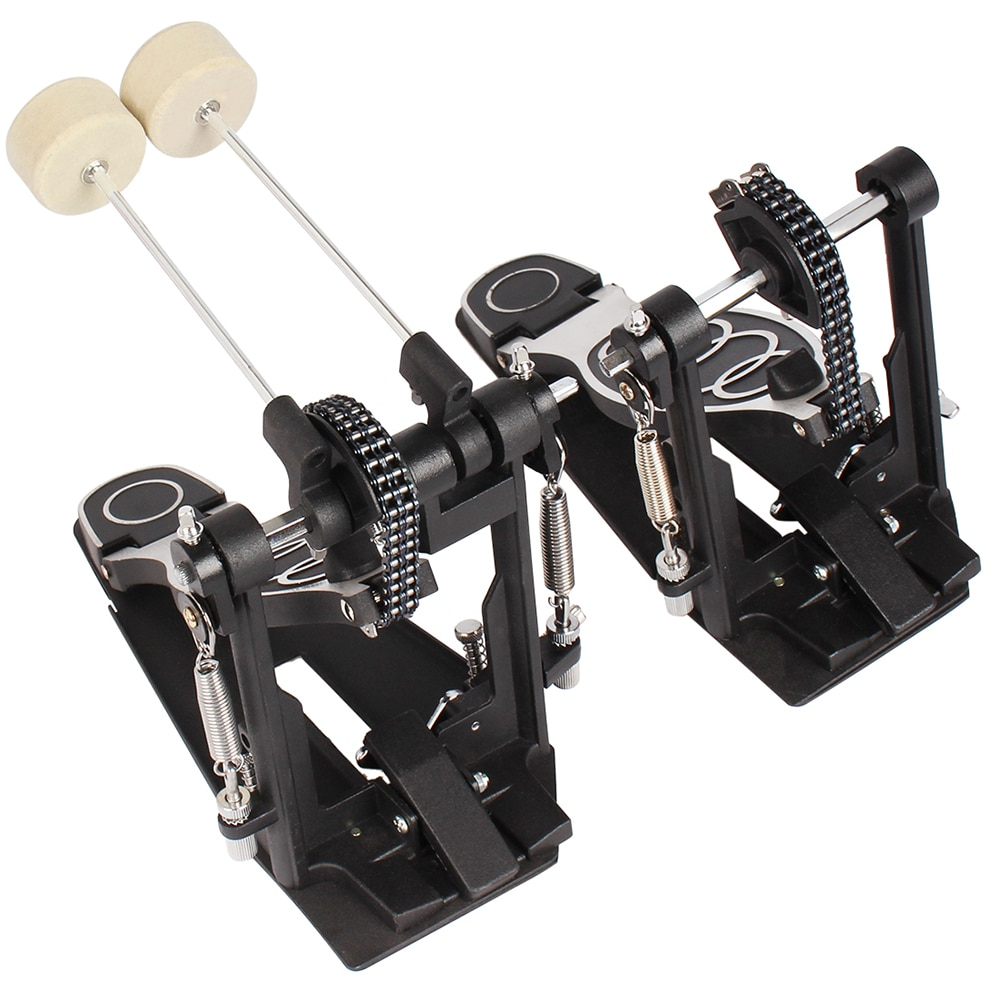 M MBAT High-Quality Double Drums Set Pedal Professional Double Chain Drive Metal Foot Kick Pedal Percussion Drum Set Accessories enlarge
