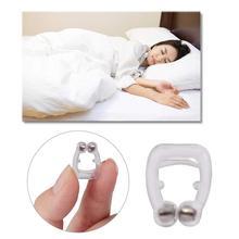 4 pièces Silicone Anti-ronflement pince nez aide au sommeil Anti ronflement et apnée purificateur pour une meilleure respiration aimant blanc arrêter de ronfler