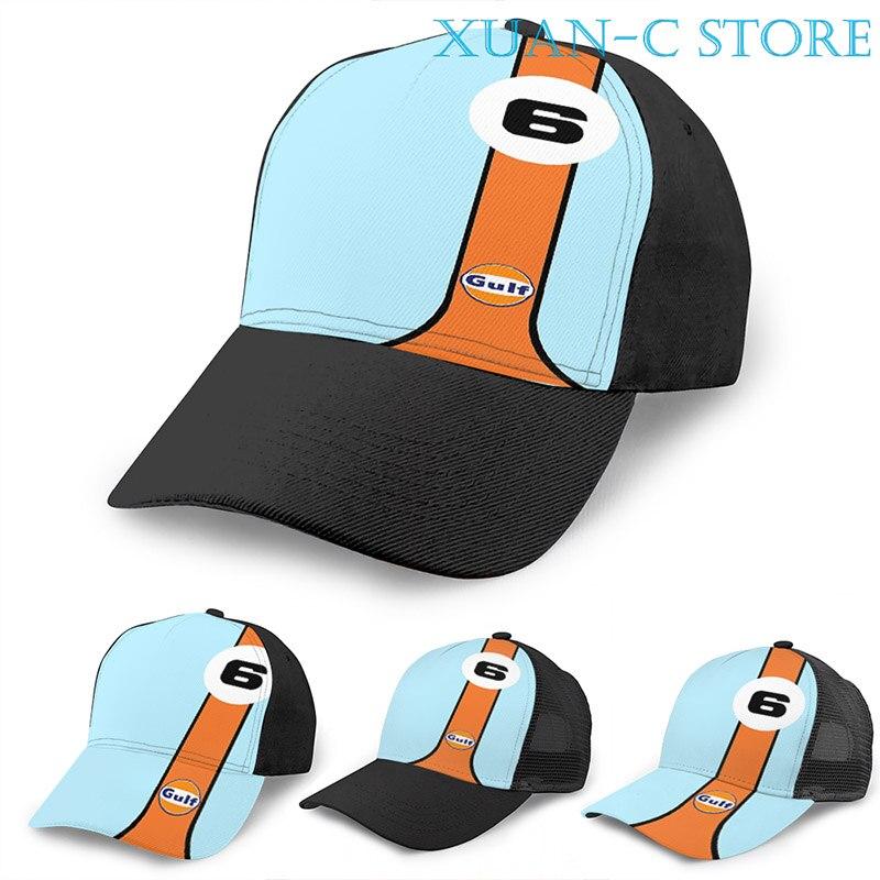 Галф гоночная баскетбольная Кепка для мужчин и женщин модная черная шляпа унисекс с принтом