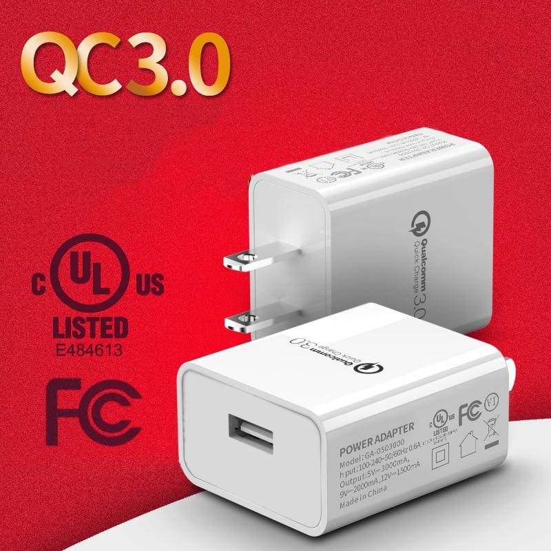¡Cargador USB Universal de carga rápida 3,0 adaptador de toma de corriente de pared de 18W 5V 3A para viaje de enchufe de EE! U