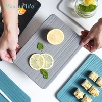 japanese style flat sushi square plate ceramic tableware creative roast fish plates western dinner serving dishes tray rectangle