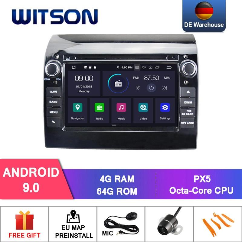 Android WITSON 9,0 octa-core (ocho núcleos) 4G RAM + 64G ROM coche DVD PLAYER GPS para FIAT DUCATO dvd gps pantalla táctil coche dvd