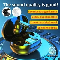 new bluetooth 5 2 headset tws wireless headset 9d stereo sports waterproof earbud headset with microphone charging box