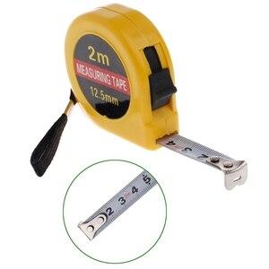 1pc Mini Pocket 2m Retractable Tape Measure Ruler Tool Builders Home DIY Garage Rule