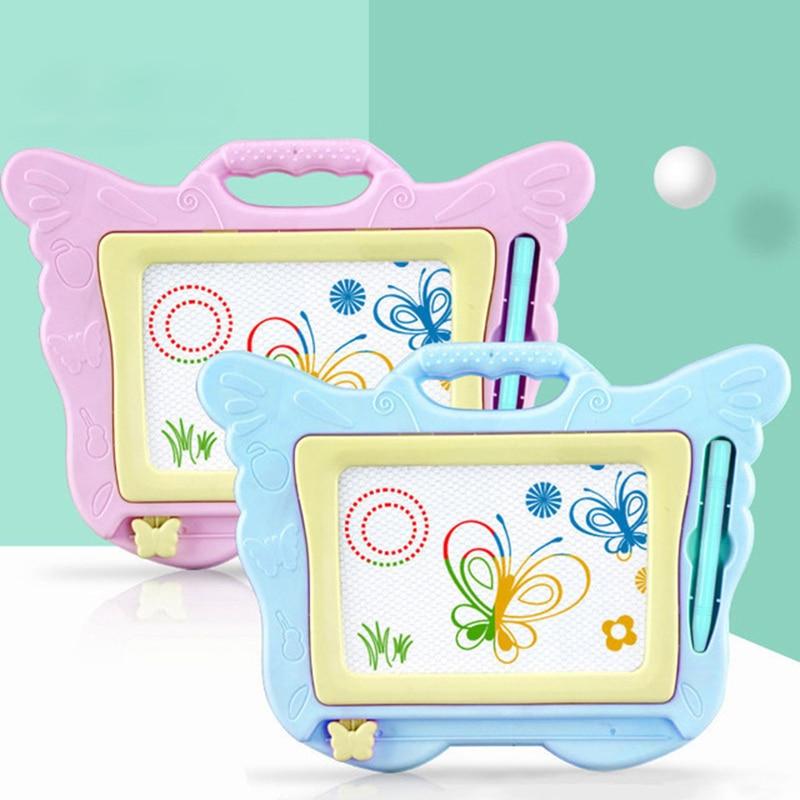 Детская магнитная доска для рисования, доска для рисования с бабочками, для письма, рисования, граффити, игрушка, подарок для детей доска для рисования детская quercetti для обучения математике и рисования 5323