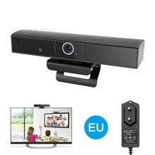 Webcam HD 1080P, boîtier TV avec Camear, boîtier TV intelligent Android 6.0, Angle de vue large, caméra de vidéoconférence Microphone intégrée