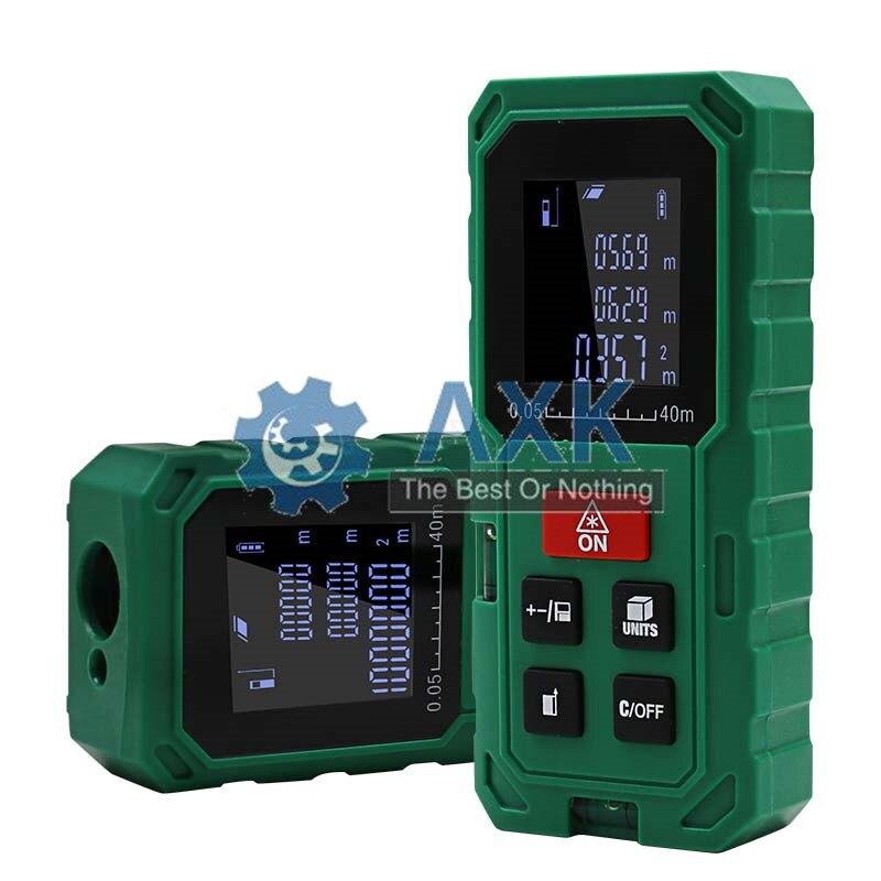 Verde 40M 60M 80M 100M óptico láser alcance buscador de mano área de medición de volumen telemetre LT526