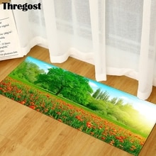 Thregost 3D Scenic Printed Hallway Mats Microfiber Floor Rugs Carpet Door Entrance Non-Slip Long Rug for Living Rooms Bedroom