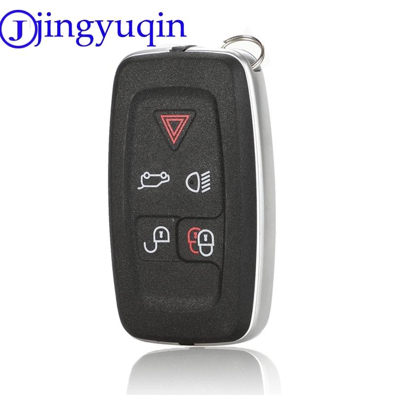 Jingyuqin 5 زر مفتاح الإسكان ل اند روفر رينج روفر سبورت LR4 فوج 2010-2013 عن المفاتيح غطاء غطاء