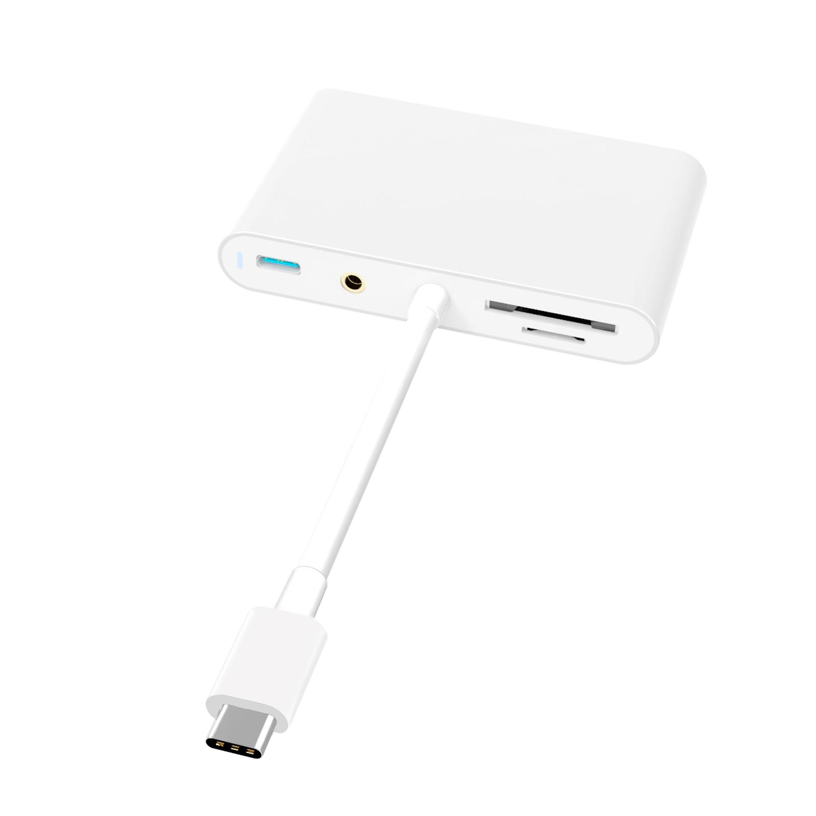 PP7R 7 في 1 نوع C Hub 4K 1080P HDMI-متوافق + VGA PD 5Gbps USB Hub دعم 3.5 مللي متر الصوت SD/TF للهاتف أندرويد الكمبيوتر
