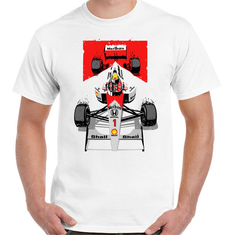 AYRTON SENNA camiseta F1 Unisex para hombre Motorsport Brasil Mclaren coche envío gratis Tops Tee camiseta