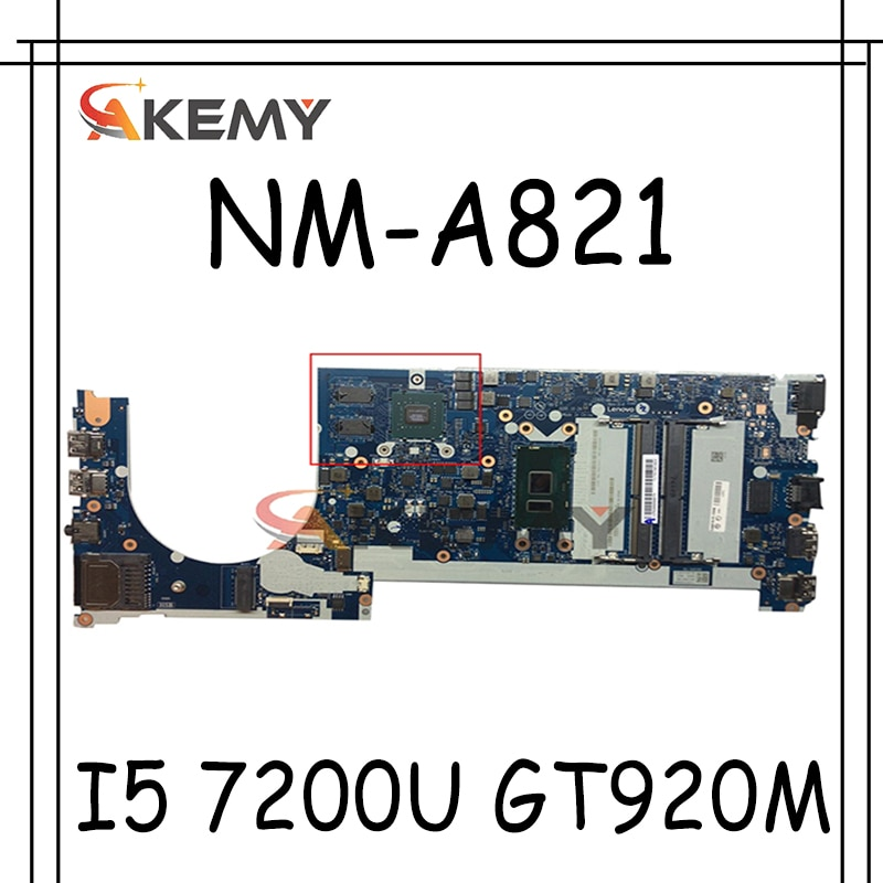 Akemy CE470 NM-A821 لينوفو ثينك باد E470 E470C دفتر اللوحة 01EN254 01EN252 CPU I5 7200U GT920M 2G 100% اختبار العمل