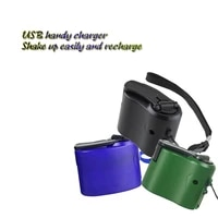 mini compact hand crank charger manual generator mobile phone emergency charger usb charger stay connected outdoor survival