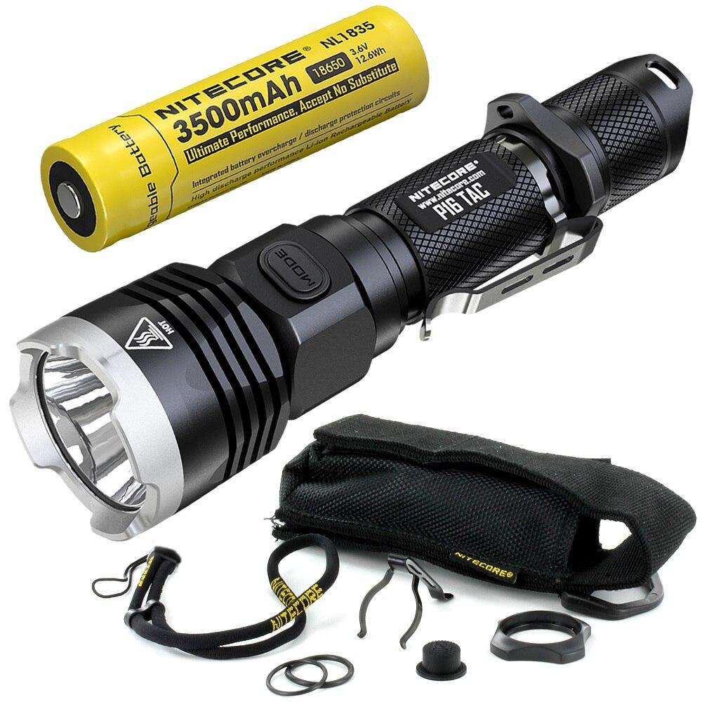 nitecore lanterna tatica p16tac com led cree de 1850 lm bateria lanterna de resgate